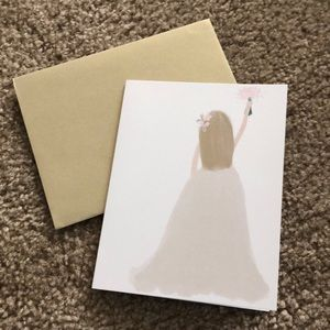 Blonde Bride Greetint Card